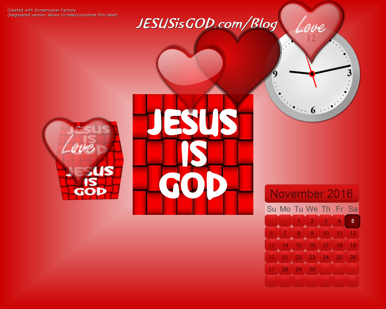 JESUSisGOD.com Screensaver