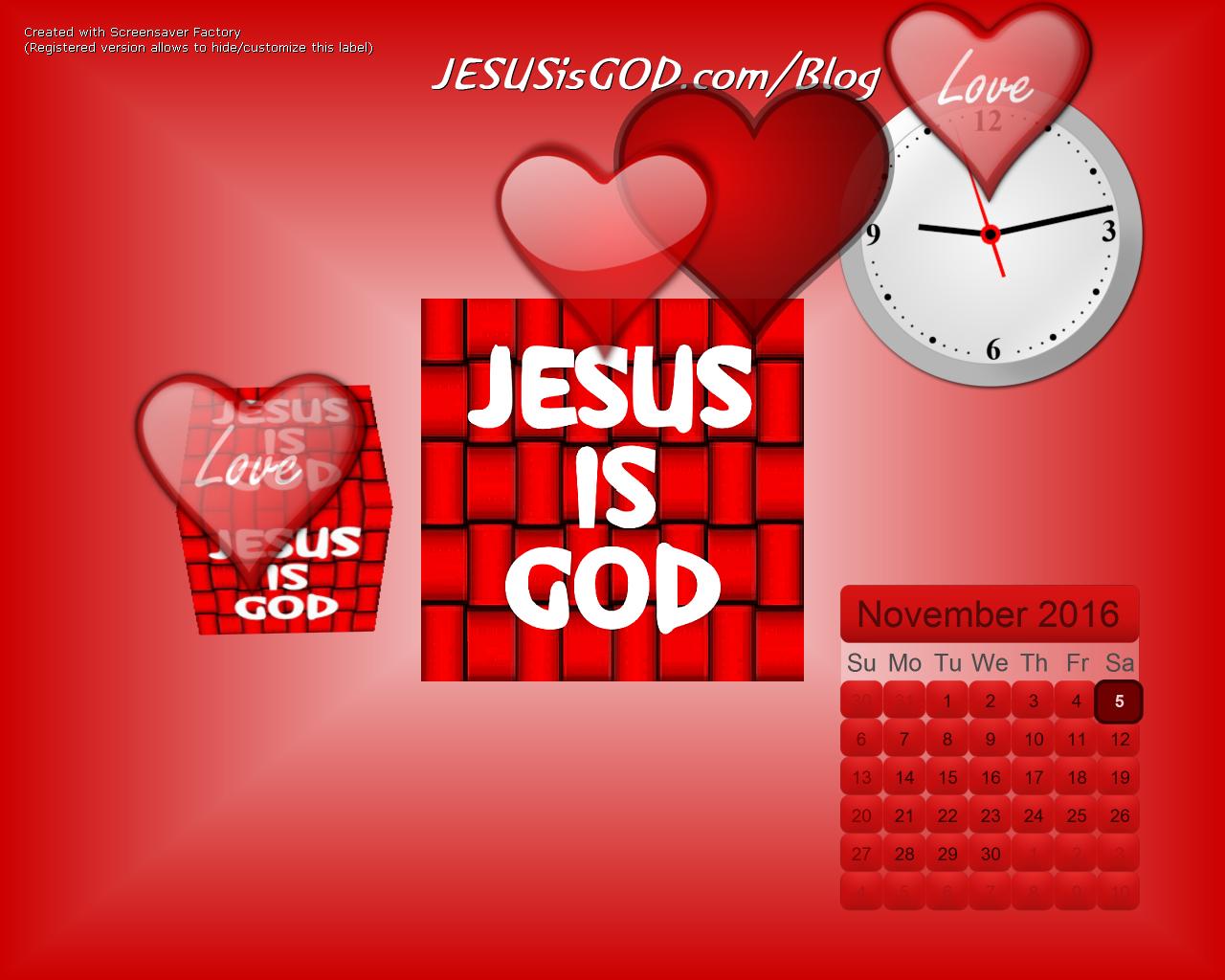 JESUSisGOD.com Screensaver